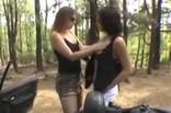 trio amateur HFF en forêt avec Aline la libertine