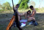 trio sexe militaires