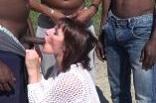 gang-bang black pour Eloïse, une libertine trentenaire