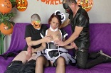 une partouze pour Halloween chez une amatrice française
